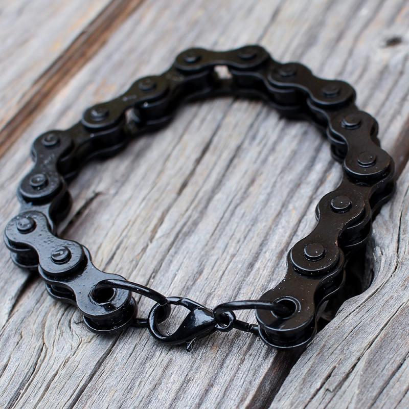 Bratara neagra lant bicicleta 0