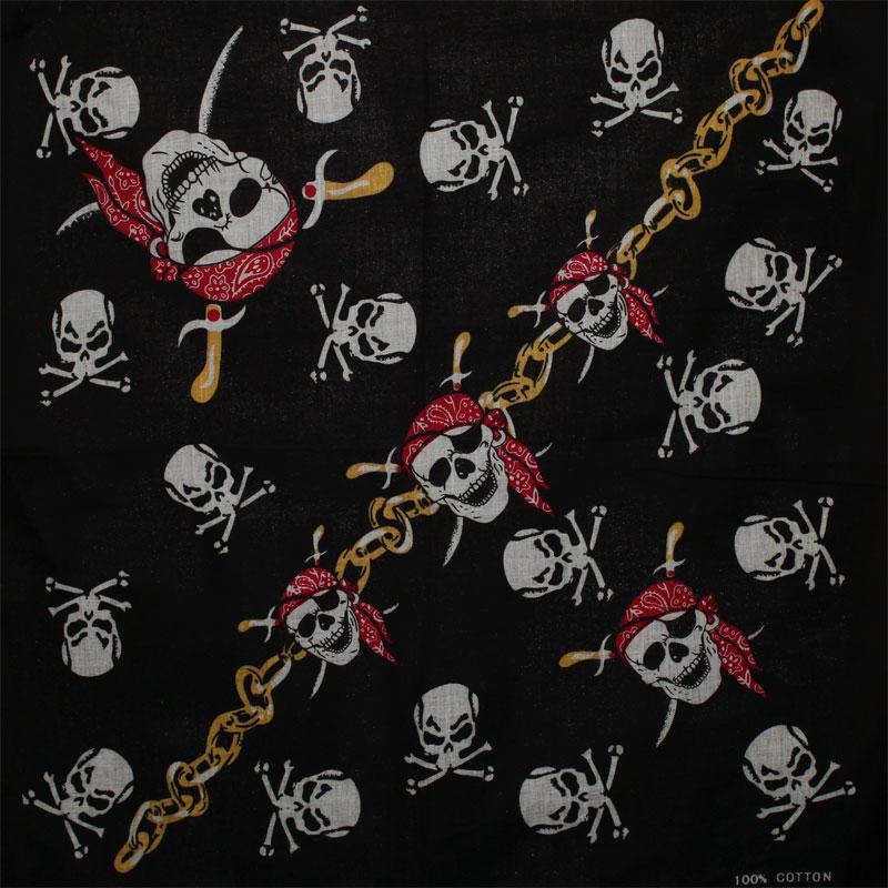 Bandana - Skulls & chains  0